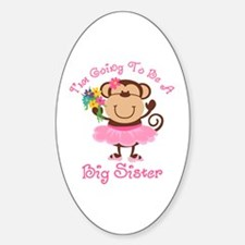 Monkey Future Big Sister Oval Decal
