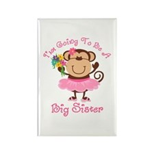 Monkey Future Big Sister Rectangle Magnet