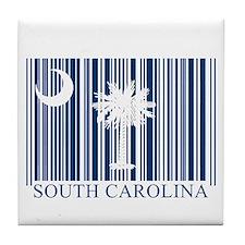 Barcode South Carolina Flag Tile Coaster