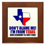 I'm From Texas Framed Tile