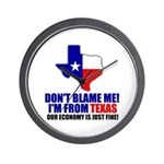 I'm From Texas Wall Clock