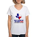 I'm From Texas Women's V-Neck T-Shirt