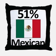 51% Mexican Throw Pillow
