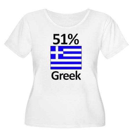 51% Greek Women's Plus Size Scoop Neck T-Shirt