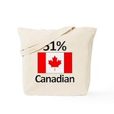 51% Canadian Tote Bag