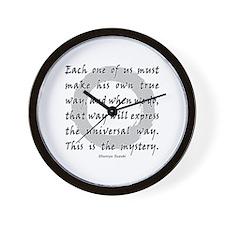 One True Way Wall Clock