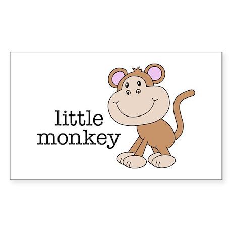 Little Monkey Rectangle Sticker