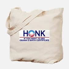 Obama Birth Certificate (Birther) Tote Bag