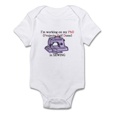 Sewing PhD (Projects Half Done) Infant Bodysuit