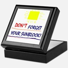 Sunblock Reminder Keepsake Box