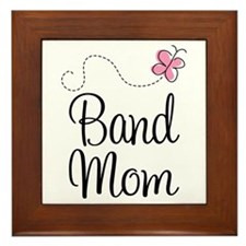 Cute Marching Band Mom Framed Tile