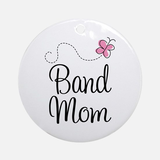 Cute Band Mom Ornament (Round)