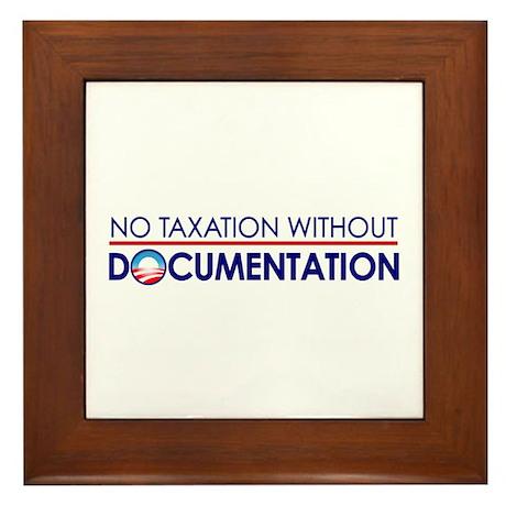 Taxation Documentation Framed Tile