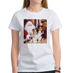 Sheltie Christmas with Santa Women's T-Shirt