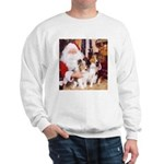 Sheltie Christmas with Santa Sweatshirt