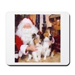 Sheltie Christmas with Santa Mousepad