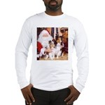 Sheltie Christmas with Santa Long Sleeve T-Shirt