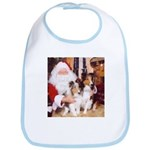 Sheltie Christmas with Santa Bib