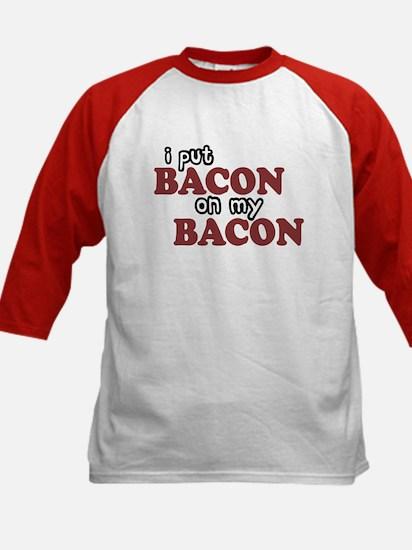 Bacon on Bacon Kids Baseball Jersey