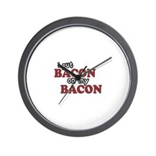 Bacon on Bacon Wall Clock