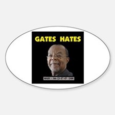 PROFESSOR HATE Oval Decal