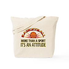 Basketball- It's An Attitude Tote Bag