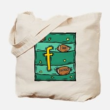 F is for Football Tote Bag