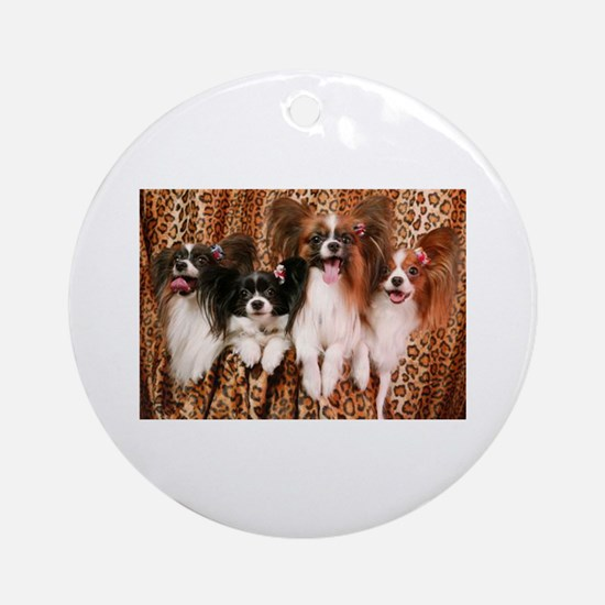 Glam Pappilions Ornament (Round)