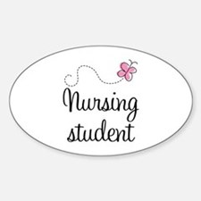 Nursing School Student Oval Decal