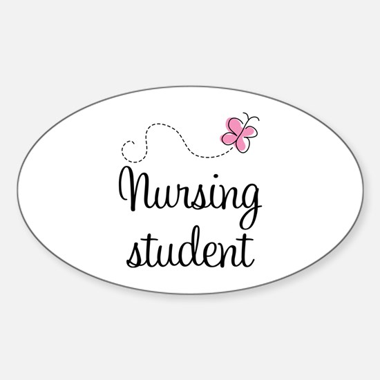 Nursing School Student Oval Decal