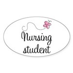 Nursing School Student Oval Sticker (10 pk)