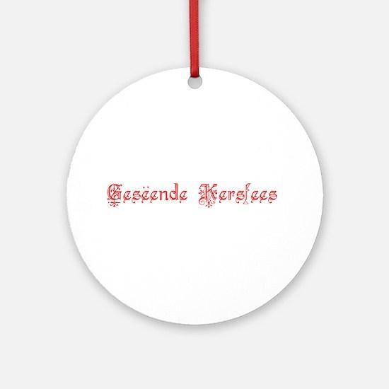Gesëende Kersfees Ornament (Round)