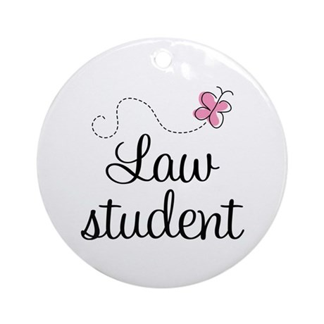 Law School Student Ornament (Round)