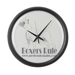 Boxers Rule Large Wall Clock