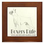 Boxers Rule Framed Tile