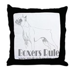Boxers Rule Throw Pillow