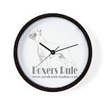 Boxers Rule Wall Clock