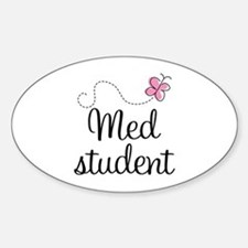 Med School Student Oval Decal
