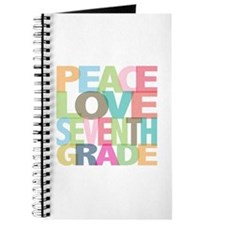 Peace Love Seventh Grade Journal