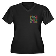 Peace Love Seventh Grade Women's Plus Size V-Neck