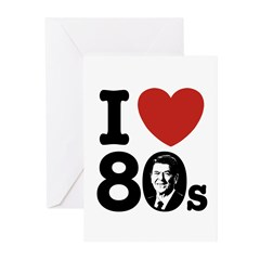 I Love The 80s Reagan Greeting Cards (Pk of 10)
