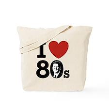 I Love The 80s Reagan Tote Bag
