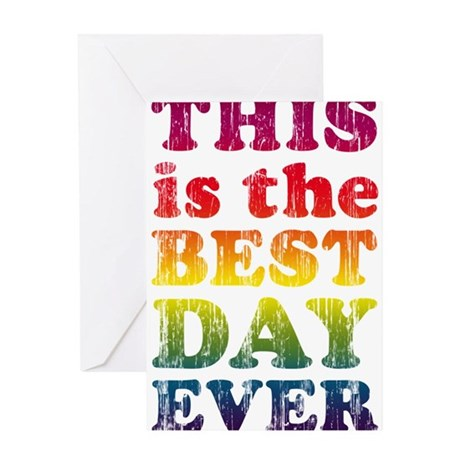 Best day ever greeting card by somanywords for Best holiday cards ever