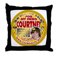 For Courtney Throw Pillow