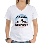 Stupidly Women's V-Neck T-Shirt