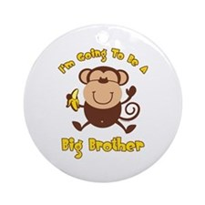 Monkey Future Big Brother Ornament (Round)