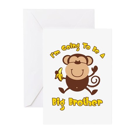 Monkey Future Big Brother Greeting Cards (Pk of 10