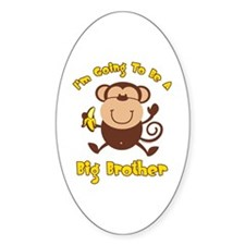 Monkey Future Big Brother Oval Decal