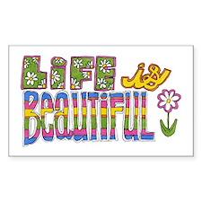 Life is Beautiful Rectangle Sticker 10 pk)