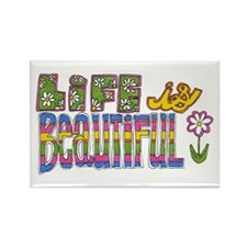 Life is Beautiful Rectangle Magnet (10 pack)